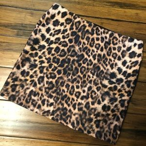 Express leopard mini skirt size large